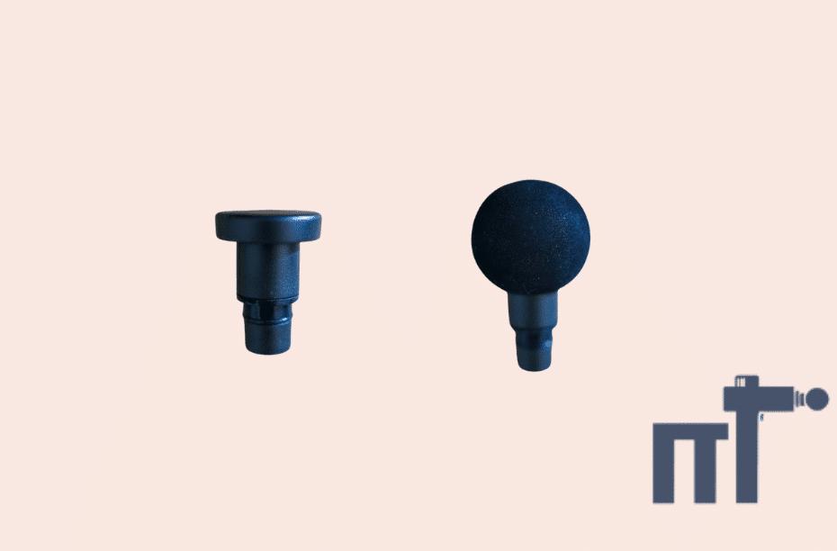 Platte en ronde bal massage gun opzetkopje
